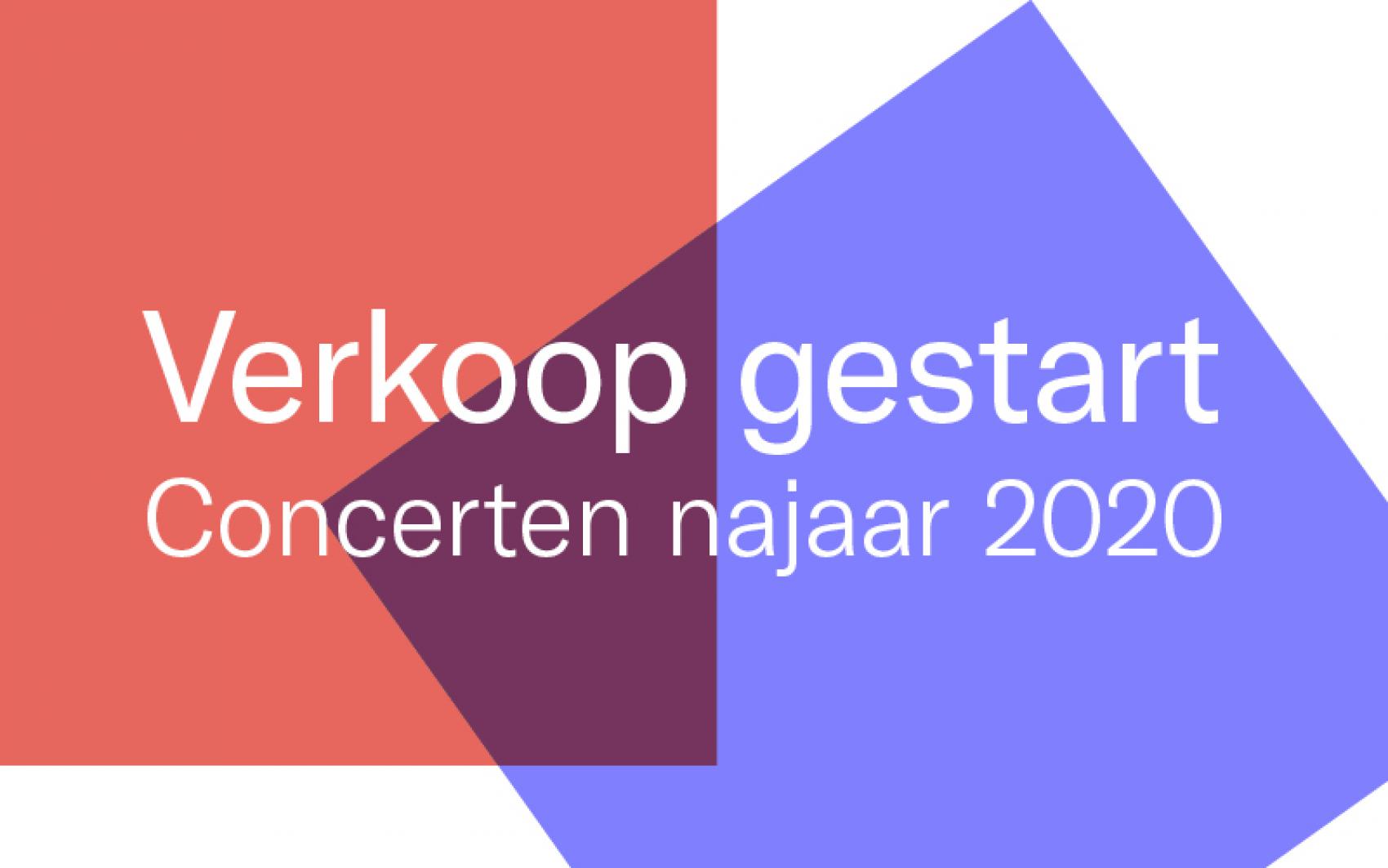 Concerten najaar 2020